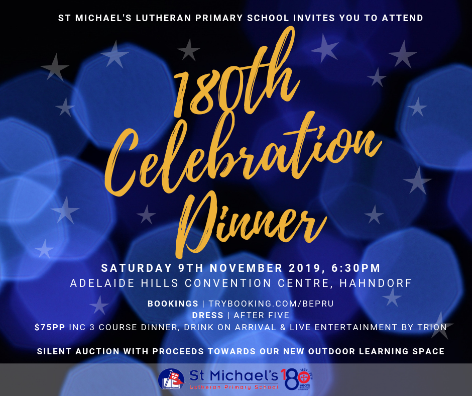 180th Celebration Dinner - FB & Blog graphic